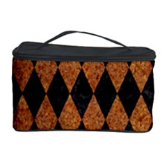 DIAMOND1 BLACK MARBLE & RUSTED METAL Cosmetic Storage Case