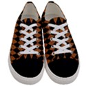 DIAMOND1 BLACK MARBLE & RUSTED METAL Women s Low Top Canvas Sneakers View1
