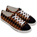 DIAMOND1 BLACK MARBLE & RUSTED METAL Women s Low Top Canvas Sneakers View3