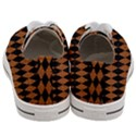 DIAMOND1 BLACK MARBLE & RUSTED METAL Women s Low Top Canvas Sneakers View4