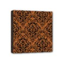 DAMASK1 BLACK MARBLE & RUSTED METAL Mini Canvas 4  x 4  View1