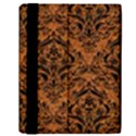 DAMASK1 BLACK MARBLE & RUSTED METAL Samsung Galaxy Tab 10.1  P7500 Flip Case View2