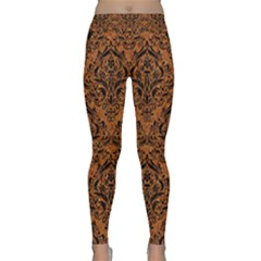 Damask1 Black Marble & Rusted Metal Classic Yoga Leggings