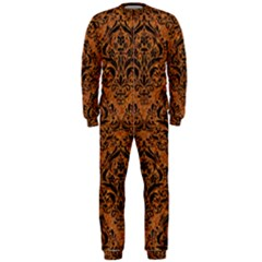 DAMASK1 BLACK MARBLE & RUSTED METAL OnePiece Jumpsuit (Men)