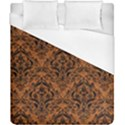 DAMASK1 BLACK MARBLE & RUSTED METAL Duvet Cover (California King Size) View1