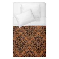 Damask1 Black Marble & Rusted Metal Duvet Cover (single Size) by trendistuff