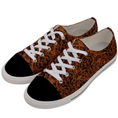 DAMASK1 BLACK MARBLE & RUSTED METAL Women s Low Top Canvas Sneakers