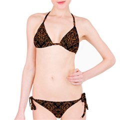 DAMASK1 BLACK MARBLE & RUSTED METAL (R) Bikini Set