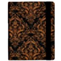 DAMASK1 BLACK MARBLE & RUSTED METAL (R) Samsung Galaxy Tab 8.9  P7300 Flip Case View2