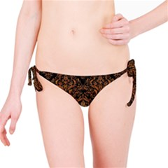DAMASK1 BLACK MARBLE & RUSTED METAL (R) Bikini Bottom