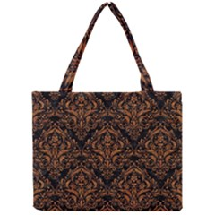 DAMASK1 BLACK MARBLE & RUSTED METAL (R) Mini Tote Bag