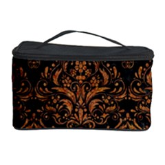 DAMASK1 BLACK MARBLE & RUSTED METAL (R) Cosmetic Storage Case