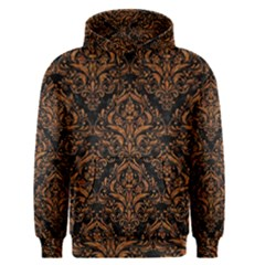 DAMASK1 BLACK MARBLE & RUSTED METAL (R) Men s Pullover Hoodie