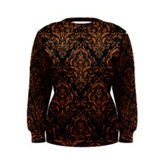 DAMASK1 BLACK MARBLE & RUSTED METAL (R) Women s Sweatshirt