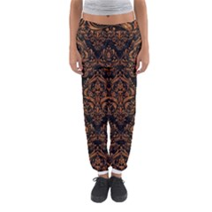 DAMASK1 BLACK MARBLE & RUSTED METAL (R) Women s Jogger Sweatpants