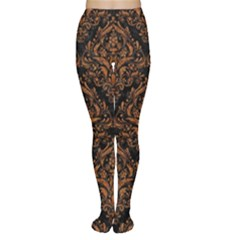 DAMASK1 BLACK MARBLE & RUSTED METAL (R) Women s Tights