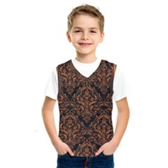 DAMASK1 BLACK MARBLE & RUSTED METAL (R) Kids  SportsWear