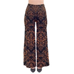 DAMASK1 BLACK MARBLE & RUSTED METAL (R) Pants