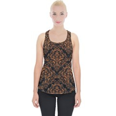 DAMASK1 BLACK MARBLE & RUSTED METAL (R) Piece Up Tank Top
