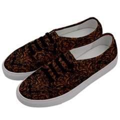DAMASK1 BLACK MARBLE & RUSTED METAL (R) Men s Classic Low Top Sneakers