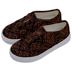 DAMASK1 BLACK MARBLE & RUSTED METAL (R) Kids  Classic Low Top Sneakers