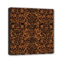 DAMASK2 BLACK MARBLE & RUSTED METAL Mini Canvas 6  x 6  View1