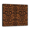 DAMASK2 BLACK MARBLE & RUSTED METAL Deluxe Canvas 24  x 20   View1