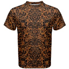 DAMASK2 BLACK MARBLE & RUSTED METAL Men s Cotton Tee