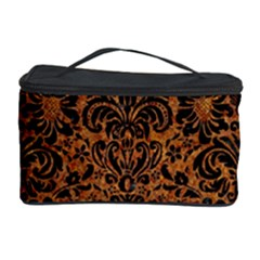DAMASK2 BLACK MARBLE & RUSTED METAL Cosmetic Storage Case