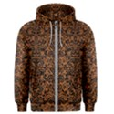 DAMASK2 BLACK MARBLE & RUSTED METAL Men s Zipper Hoodie View1