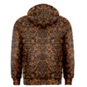 DAMASK2 BLACK MARBLE & RUSTED METAL Men s Zipper Hoodie View2