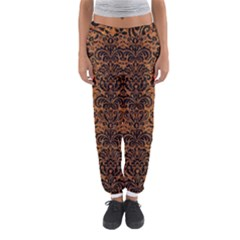 DAMASK2 BLACK MARBLE & RUSTED METAL Women s Jogger Sweatpants