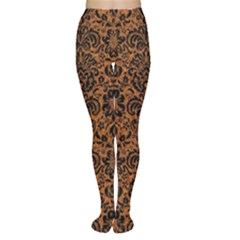 DAMASK2 BLACK MARBLE & RUSTED METAL Women s Tights
