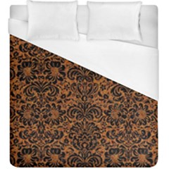 DAMASK2 BLACK MARBLE & RUSTED METAL Duvet Cover (King Size)