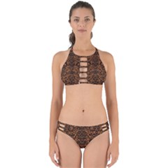 DAMASK2 BLACK MARBLE & RUSTED METAL Perfectly Cut Out Bikini Set