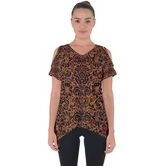DAMASK2 BLACK MARBLE & RUSTED METAL Cut Out Side Drop Tee