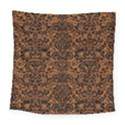DAMASK2 BLACK MARBLE & RUSTED METAL Square Tapestry (Large) View1