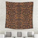DAMASK2 BLACK MARBLE & RUSTED METAL Square Tapestry (Large) View2