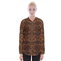 DAMASK2 BLACK MARBLE & RUSTED METAL Womens Long Sleeve Shirt