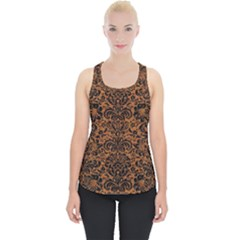 DAMASK2 BLACK MARBLE & RUSTED METAL Piece Up Tank Top