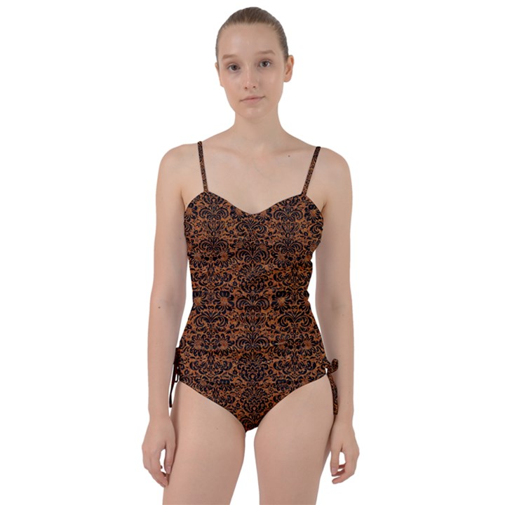 DAMASK2 BLACK MARBLE & RUSTED METAL Sweetheart Tankini Set