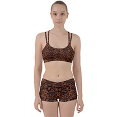 DAMASK2 BLACK MARBLE & RUSTED METAL Women s Sports Set