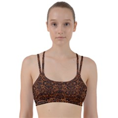 DAMASK2 BLACK MARBLE & RUSTED METAL Line Them Up Sports Bra