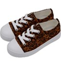 DAMASK2 BLACK MARBLE & RUSTED METAL Kids  Low Top Canvas Sneakers View2