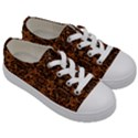 DAMASK2 BLACK MARBLE & RUSTED METAL Kids  Low Top Canvas Sneakers View3