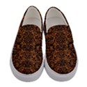 DAMASK2 BLACK MARBLE & RUSTED METAL Women s Canvas Slip Ons View1