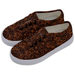 DAMASK2 BLACK MARBLE & RUSTED METAL Kids  Classic Low Top Sneakers