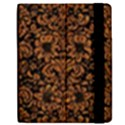 DAMASK2 BLACK MARBLE & RUSTED METAL (R) Apple iPad 3/4 Flip Case View2