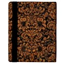 DAMASK2 BLACK MARBLE & RUSTED METAL (R) Apple iPad 3/4 Flip Case View3