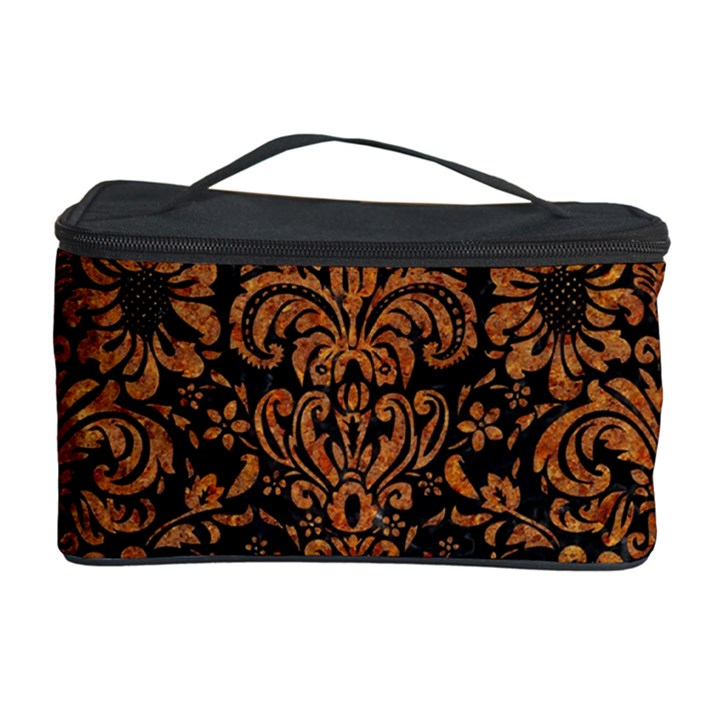 DAMASK2 BLACK MARBLE & RUSTED METAL (R) Cosmetic Storage Case